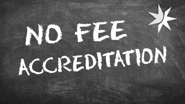 COVID-19 Update - Accreditation Fees Removed