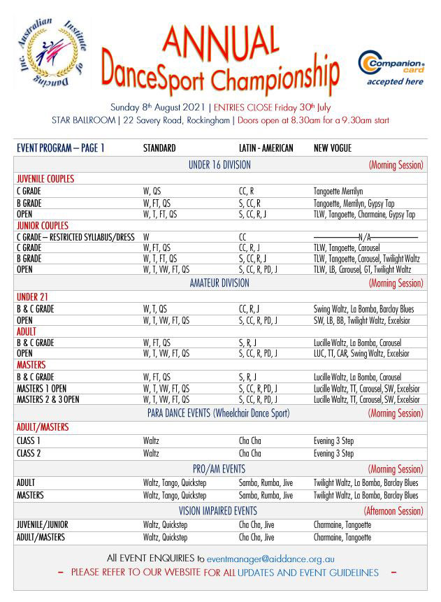 AID Annual DanceSport Championship