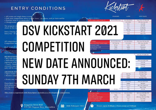 2021 DSV Kickstart Competition - Change of Date