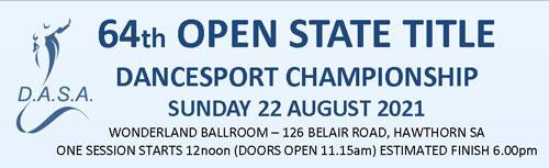 2021 DASA 64th Open State Title DanceSport Championship