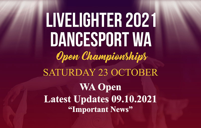 2021 LiveLighter DanceSport WA Open Prize Money, Sponsors, Conditions of Entry