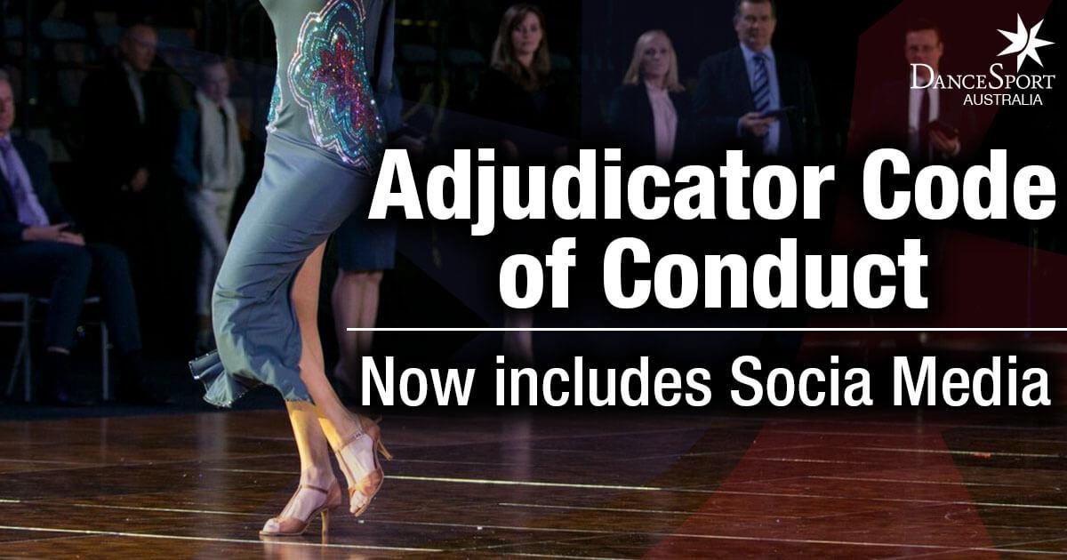 Update to Adjudicator's Code of Conduct