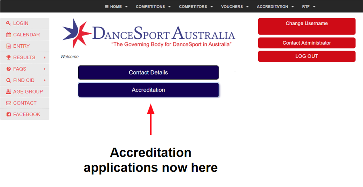 New online access point for DanceSport Accreditation