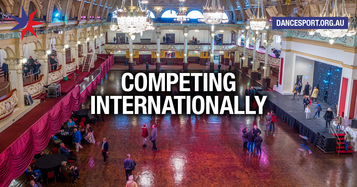 Competing internationally in DanceSport
