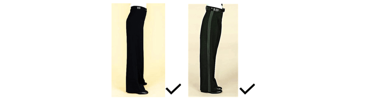 Dress restrictions on pants for juvenile boys in Dancesport