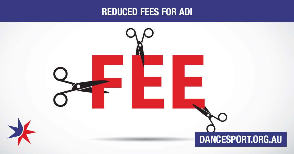 Reduced member fee for Assistant Dance Instructors