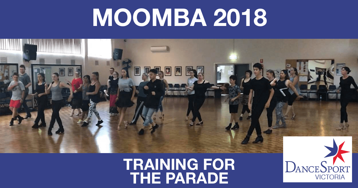 There was lots of good training for the DanceSport Victoria Moomba Parade 2018