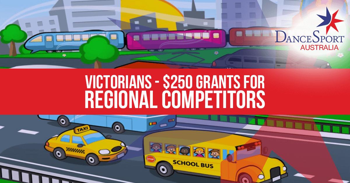 Victorians - $250 Grants for Regional Competitors