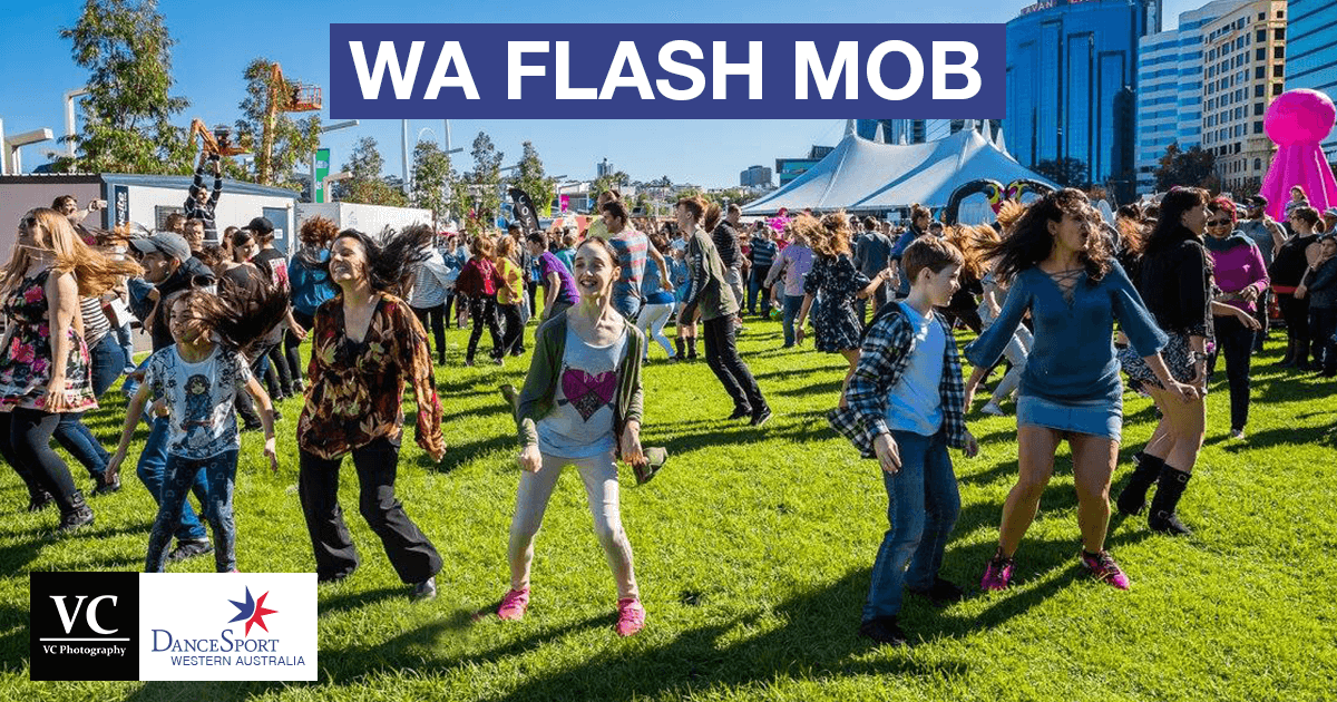 Great dancing at the Flash Mob June 2017 from DanceSport Western Australia