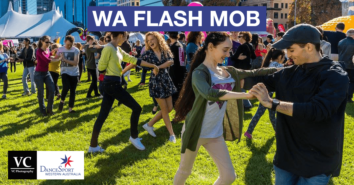 Partnering up at the Flash Mob June 2017 from DanceSport Western Australia