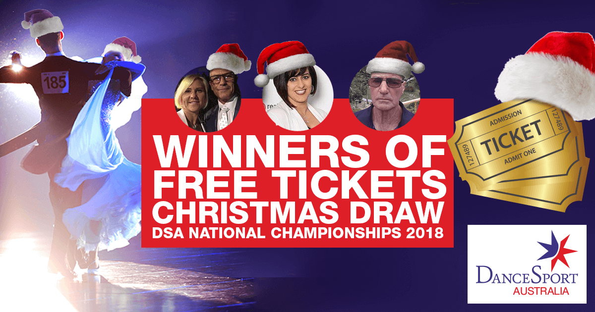 Winners of DSA National Championship 2018 Free Tickets Christmas Draw