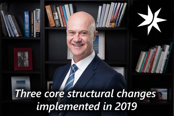 President's Message: Three core structural changes implemented in 2019