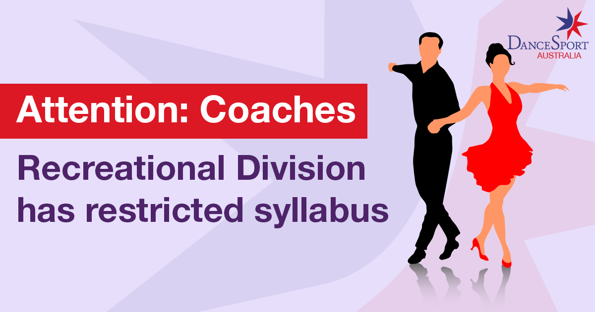 Recreational Division has RESTRICTED syllabus
