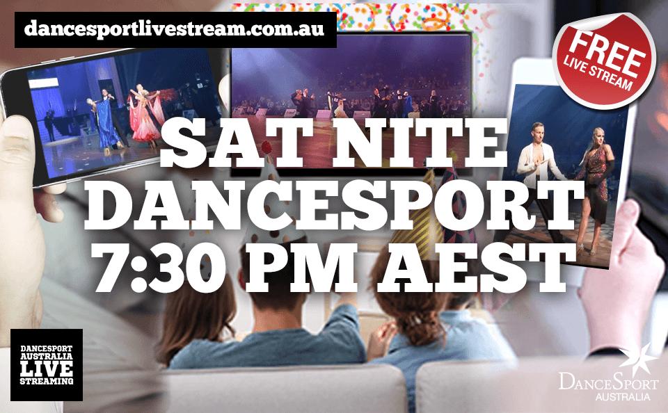 SAT NITE DANCESPORT – Free live stream every Saturday night